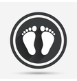 Child pair of footprint sign icon Barefoot vector image vector image