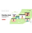 children parents and grandparents during video vector image