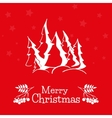 Christmas greeting card with pine trees vector image vector image