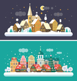 Christmas landscapes vector image vector image