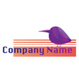 chubpurple bird logo on a white background vector image