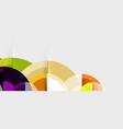 circular geometrical design template vector image vector image