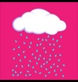 cloud icon cloud with rain vector image vector image