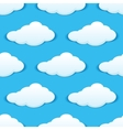 Cloudy sky seamless pattern vector image