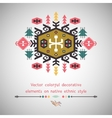 Colorful decorative element on ethnic style vector image vector image