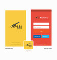 company guns splash screen and login page design vector image