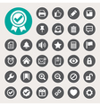Computer and application interface icon set vector image vector image