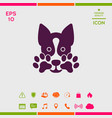 cute dog paw - logo symbol protect sign vector image vector image