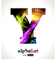 Design Abstract Letter Y vector image vector image