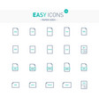 easy icons 15e papers vector image vector image
