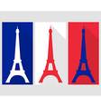 Eiffel Tower Flat icon vector image vector image