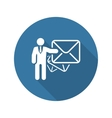 Email Marketing Icon Flat Design vector image