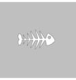 Fish skeleton computer symbol vector image vector image