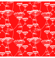 flower pattern red vector image vector image