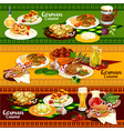 german cuisine restaurant banner for oktoberfest vector image vector image