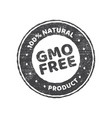 gmo free grunge rubber stamp on white background vector image vector image