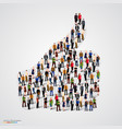 group of people in thumb form vector image vector image