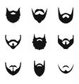haircut icons set simple style vector image