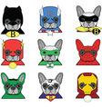 Heroes French bulldog vector image