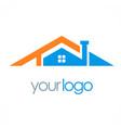 house roof company logo vector image vector image