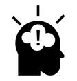 idea brainstorming icon simple style vector image vector image