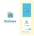 image frame creative logo and business card vector image