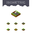 isometric way set of upwards footpath without vector image vector image