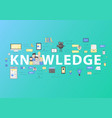 knowledge school and university education vector image