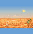landscape desert dunes mountains from sand vector image vector image