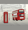 london street vector image vector image