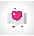 Love confession bright flat icon vector image