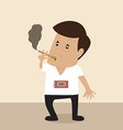 Man is Smoking with bomb timer vector image