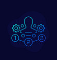 management icon with gears linear vector image vector image