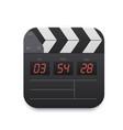 movie clapper board video record interface icon vector image
