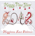 New year 2012 dragons greeting card vector | Price: 1 Credit (USD $1)