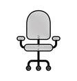 office armchair comfort wheel element vector image vector image