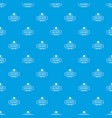 old hat pattern seamless blue vector image vector image