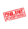 online advertising rubber stamp vector image vector image