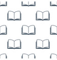 open book seamless pattern vector image