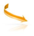 orange arrow web 3d shiny icon vector image