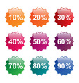 Percent labels vector image vector image
