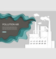 pollution air web banner template paper vector image vector image