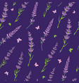 purple lavender repeat pattern design vector image vector image