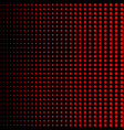 red dots halftone on black background red vector image vector image