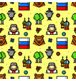 russia seamless pattern vector image vector image