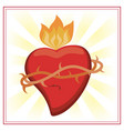 sacred heart jesus christ image vector image vector image