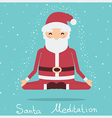 Santa christmas meditation holiday vector image vector image
