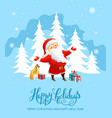 santa claus holiday card vector image vector image