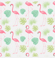 seamless pattern a pink flamingo vector image vector image