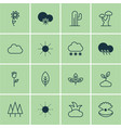 set of 16 harmony icons includes plant cactus vector image vector image